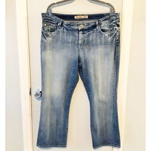 Big Star Maddie Mid Rise Boot Cut Jeans Size 36